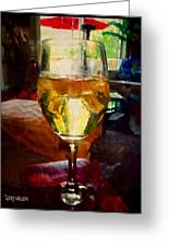 A Cold Glass Of Wine Greeting Card