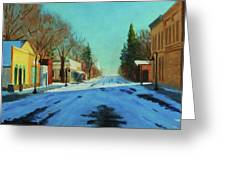 A Cold Morning Greeting Card