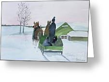 A Cold Ride Greeting Card