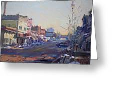 A Cold Sunny Day At Webster St Greeting Card