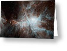 A Colony Of Hot Young Stars Greeting Card by Stocktrek Images