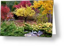 A Colorful Fall Corner Greeting Card