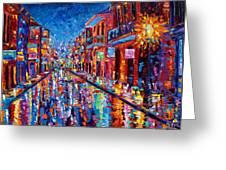 A Cool Night On Bourbon Street Greeting Card