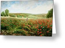 A Corner Of The Field In Bloom Greeting Card