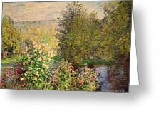 A Corner Of The Garden At Montgeron Greeting Card