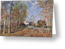 A Corner Of The Woods At Sablons Greeting Card