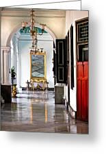 A Corridor In Keraton Sultan Palace Yogyakarta  Greeting Card