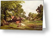A Cottage Home In Surrey Greeting Card
