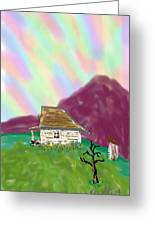 A Cottage In The Alps Greeting Card