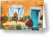 A Cottage In The Village Greeting Card