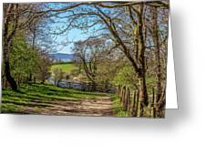 A Country Pathway In Northern England Greeting Card