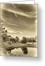 A Country Place 3 - Sepia Greeting Card