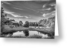 A Country Place Bw Greeting Card