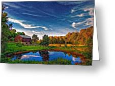 A Country Place Painted Version Greeting Card