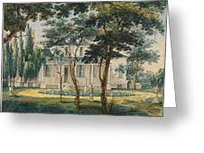 A Country Residence Possibly General Moreau's Country House At Morrisville Pennsylvania Greeting Card