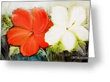 A Couple Of Flowers Greeting Card by Fatima Stamato