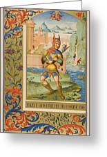 A Court Fool Of The 15th Century. 19th Greeting Card