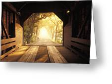 A Covered Bridge In New Market Greeting Card