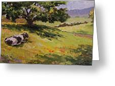 A Cow  Greeting Card
