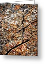 A Crack On A Brown Stone Block Greeting Card
