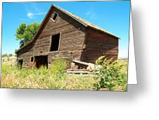 A Crooked Old Barn  Greeting Card