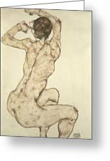 A Crouching Nude Greeting Card