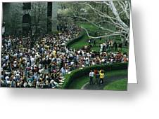 A Crowd Gathers Around Keenelands Greeting Card