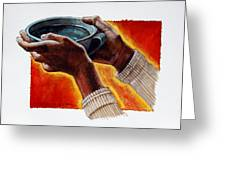 A Cup Of Water Greeting Card