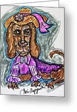 A Dachshund Easter Greeting Card