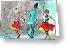 A Dance For Three Greeting Card