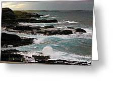 A Dangerous Coastline Greeting Card