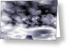 A Dark Heaven's Storm Greeting Card