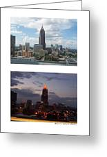 A Day And Night In Atlanta Greeting Card