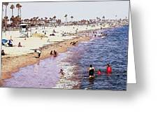 A Day At The Beach - Colored Pens Effect Greeting Card