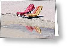 A Day At The Beach Greeting Card