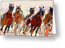 A Day At The Races 2 Greeting Card