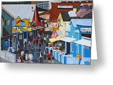 A Day At The Wharf Greeting Card