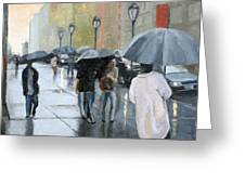 A Day For Umbrellas Greeting Card by Tate Hamilton
