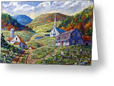 A Day In Our Valley Greeting Card