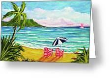 A Day In Paradise #354 Greeting Card