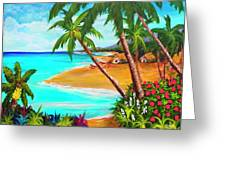 A Day In Paradise Hawaii #359 Greeting Card