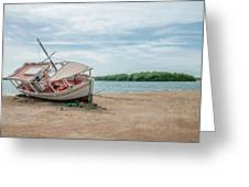 A Day Of Fishing Aground Greeting Card