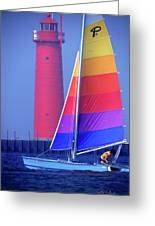 A Day Of Sailing Greeting Card