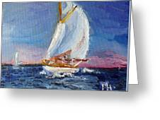 A Day On A Boat Is..... Greeting Card