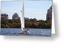 a day on the Charles Greeting Card