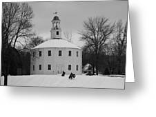 A Day On The Hill Greeting Card