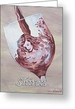 A Day Without Wine - Shiraz Greeting Card
