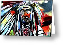 A Decorated Chief 1 Greeting Card