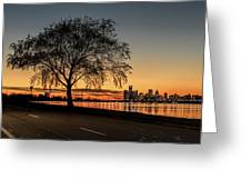 A Detroit Sunset - The View From Belle Isle Greeting Card