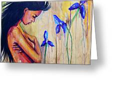 A Different Kind Of Blue Greeting Card